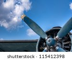 Propeller And Engine Of Vintag...