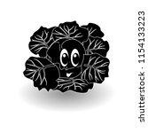 cartoon vegetable    silhouette ...   Shutterstock .eps vector #1154133223