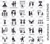set of 25 transparent icons... | Shutterstock .eps vector #1154139640
