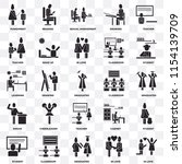 set of 25 transparent icons... | Shutterstock .eps vector #1154139709