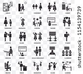 set of 25 transparent icons... | Shutterstock .eps vector #1154139739