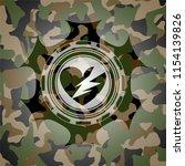 broken heart icon on camouflage ... | Shutterstock .eps vector #1154139826