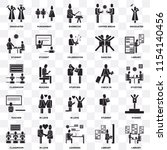 set of 25 transparent icons... | Shutterstock .eps vector #1154140456