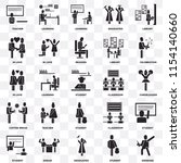 set of 25 transparent icons... | Shutterstock .eps vector #1154140660