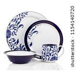 luxury dinner set  high... | Shutterstock . vector #1154140720