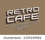 vector cool rotated logo retro... | Shutterstock .eps vector #1154140966