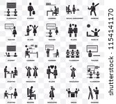 set of 25 transparent icons... | Shutterstock .eps vector #1154141170