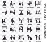 set of 25 transparent icons... | Shutterstock .eps vector #1154141566