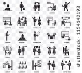 set of 25 transparent icons... | Shutterstock .eps vector #1154142193