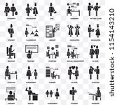 set of 25 transparent icons... | Shutterstock .eps vector #1154143210