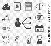 set of 13 transparent icons... | Shutterstock .eps vector #1154144479