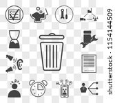 set of 13 transparent icons... | Shutterstock .eps vector #1154144509