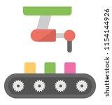 conveyor belt with package ... | Shutterstock .eps vector #1154144926