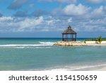 gazebo cabana on beautiful... | Shutterstock . vector #1154150659