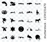 set of 25 transparent icons... | Shutterstock .eps vector #1154151670