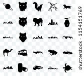 set of 25 transparent icons... | Shutterstock .eps vector #1154151769