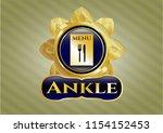 golden emblem with restaurant... | Shutterstock .eps vector #1154152453