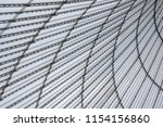 conic roof construction. frame... | Shutterstock . vector #1154156860