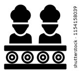 two human avatars in chef caps ... | Shutterstock .eps vector #1154158039