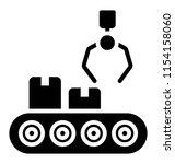 conveyor belt with package ... | Shutterstock .eps vector #1154158060