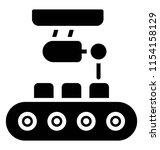 conveyor belt with package ... | Shutterstock .eps vector #1154158129