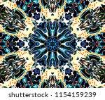 abstract ornamental symmetrical ... | Shutterstock . vector #1154159239