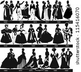 black and white 1800 1900... | Shutterstock .eps vector #115416070