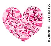 sweet pink heart with smooth... | Shutterstock .eps vector #1154166580