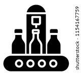 conveyor belt with package ... | Shutterstock .eps vector #1154167759