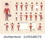 big set of businessman showing... | Shutterstock .eps vector #1154168173