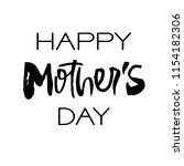 happy mothers day greeting card.... | Shutterstock . vector #1154182306