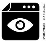 an eye over a web page... | Shutterstock .eps vector #1154182363