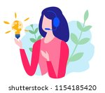 concept customer service ... | Shutterstock .eps vector #1154185420