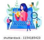 concept customer service ... | Shutterstock .eps vector #1154185423