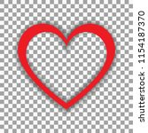 simple vector heart isolated on ... | Shutterstock .eps vector #1154187370