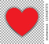 simple vector heart isolated on ... | Shutterstock .eps vector #1154187373