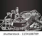 abstract vector illustration... | Shutterstock .eps vector #1154188789