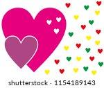 heart love valentine day... | Shutterstock .eps vector #1154189143