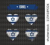 israel. collection of four... | Shutterstock .eps vector #1154189326
