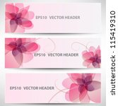 vector headers set | Shutterstock .eps vector #115419310
