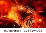3d rendering of abstract... | Shutterstock . vector #1154194036