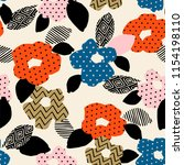 floral abstract seamless... | Shutterstock .eps vector #1154198110