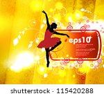 ballet dancer performing | Shutterstock .eps vector #115420288