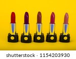 set of lipsticks of different... | Shutterstock . vector #1154203930