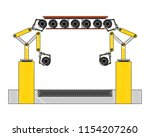assembly line tires automatic... | Shutterstock .eps vector #1154207260