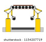 assembly line tires automatic... | Shutterstock .eps vector #1154207719