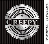 creepy silvery emblem | Shutterstock .eps vector #1154213296