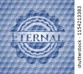 eternal blue hexagon emblem. | Shutterstock .eps vector #1154213383