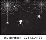 white spiders vector and... | Shutterstock .eps vector #1154214436