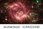 dark red and green fractal... | Shutterstock . vector #1154221030